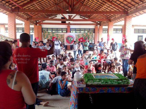 Plenaria dos Sem Terrinha no Colégio Agrícola Antônio Sarlo, no Município de Campos dos Goytacazes. Foto: Setor de Educação MST RJ
