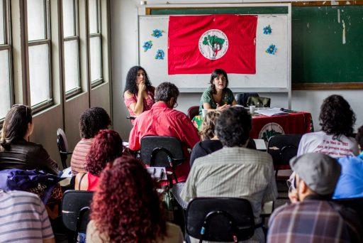 Professoras e professores, pedagogos, Acadêmicos e universitários, realizam o I Encontro Estadual de Professores com o MST no Rio de Janeiro / Foto Pablo Vergara Coletivo de Comunicação MST-RJ