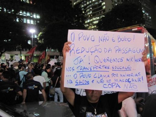 Protestos no Rio. Foto: Alan Tygel