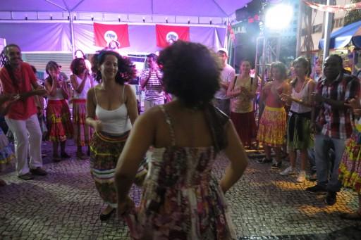 Grupo Zanzar, na Feira do MST. Foto: Uschi Silva